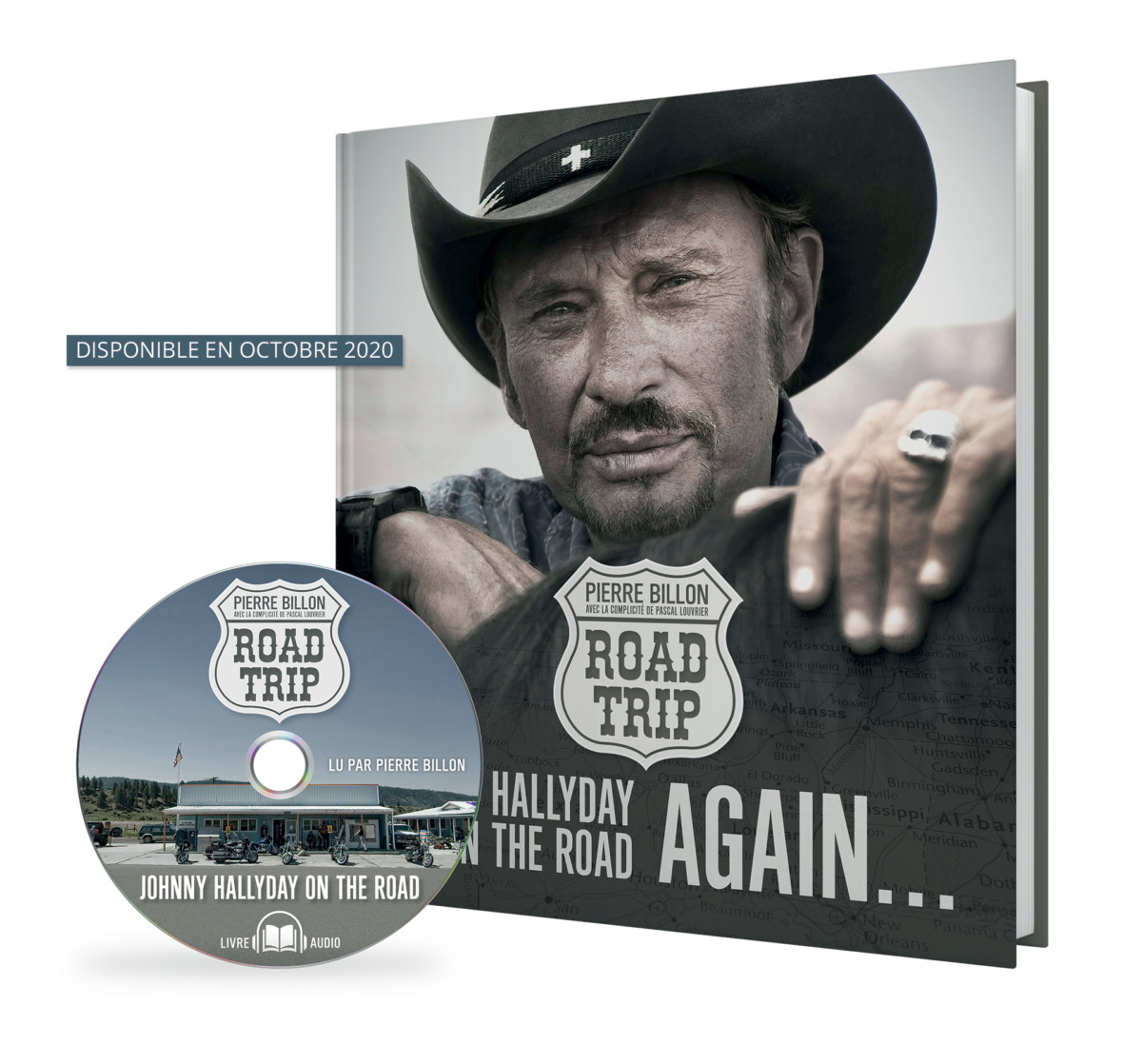 Visuel de l'ouvrage Johnny Hallyday on the road again